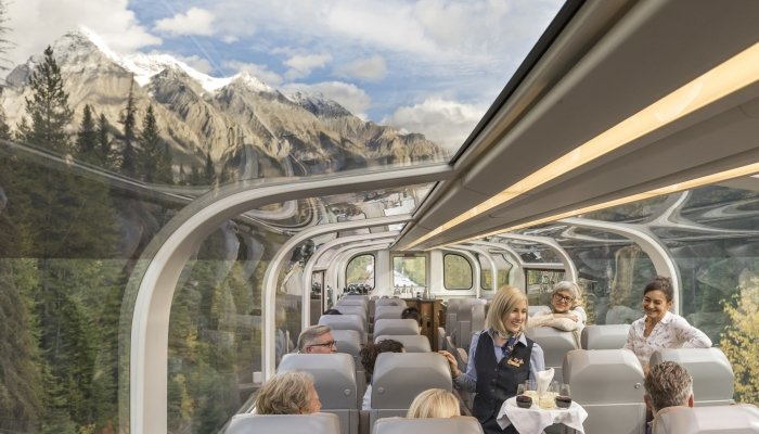 Rocky Mountaineer's onboard experience.